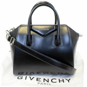 GIVENCHY Antigona Mini Calfskin Leather Bag